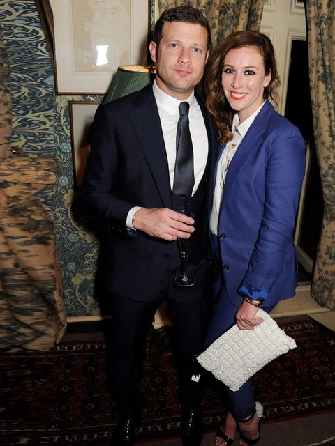"<p>Dermot O'Leary and Dee Koppang at the <a href=""http://www.elleuk.com/catwalk/designer-a-z/tom-ford/autumn-winter-2013"">Tom Ford</a> Mens Grooming Collection launch at Mark's Club on 18 June 2013.</p>"