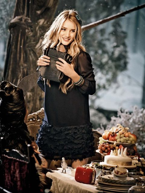 <p>Rosie Huntington-Whitely in the Marks & Spencer Christmas 2013 ad</p>