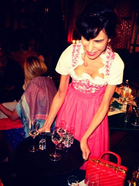 <p>'The bride to be, Caroline Sieber, putting the fierce in fräulein!'</p>