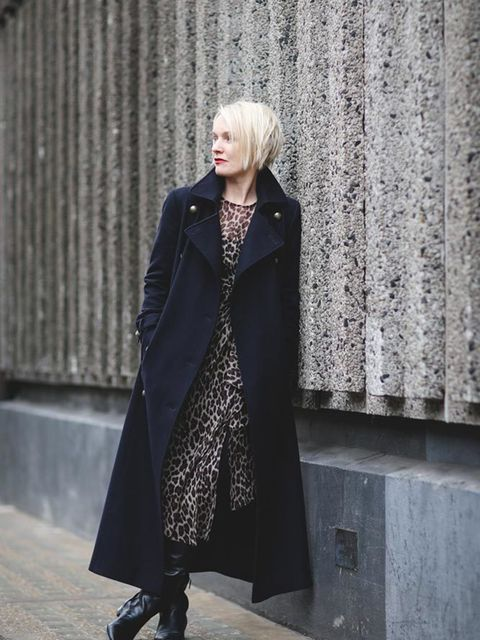 <p>Lorraine Candy, Editor-in-Chief</p>  <p>Marks and Spencer coat, Topshop dress, Prada boots</p>