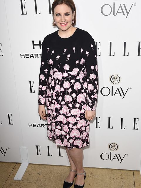 <p>Lena Dunham attends ELLE's Women In Television Celebration in Hollywood, January 2015.</p>