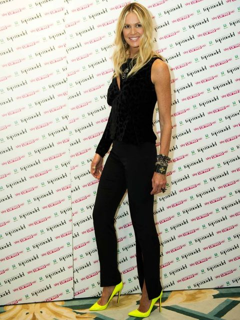 "<p>Supermodel Elle Macpherson returns to helm Britain and Ireland's Next Top Model – which she also produces. For the launch of the show's 8th series at Claridges in London, Elle wore a dress by Louis Heal, <a href=""http://www.elleuk.com/fashion/news/loub"