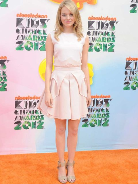 <p>Emma Stone in Antonio Berardi at the Kids' Choice Awards</p>