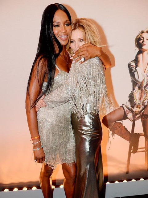 <p>Naomi Campbell and Kate Moss at the Kate Moss for Topshop launch private dinner at The Connaught Hotel. </p>