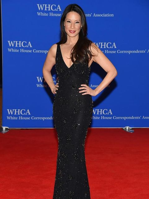 <p>Lucy Liu in Naeem Khan at the 101st Annual White House Correspondents' Dinner in Washington, April 2015.</p>