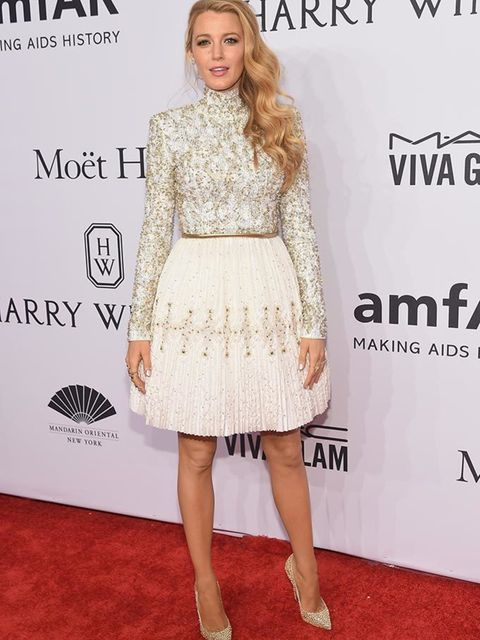 <p>Blake Lively wears Chanel Haute Couture at the amfAR Gala in New York, February 2016</p>