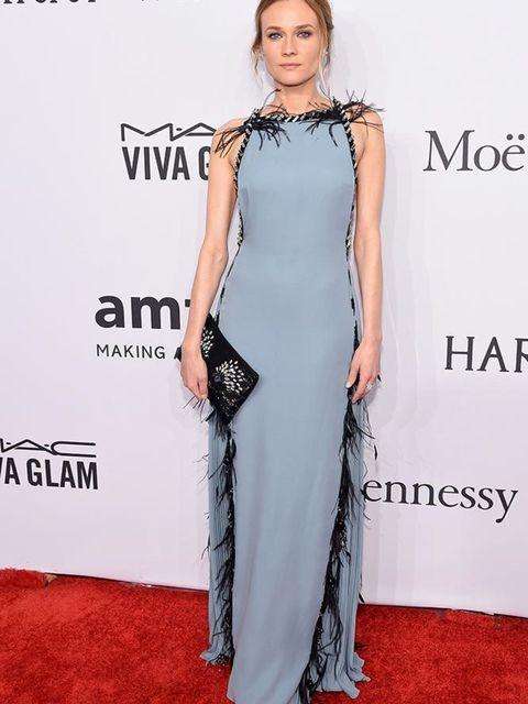 <p>Diane Kruger wears Prada at the amfAR Gala in New York, February 2016</p>