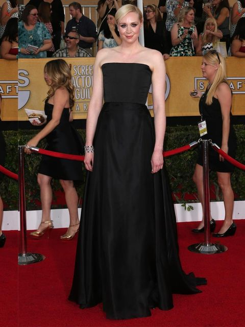 <p>Gwendoline Christie attends the 20th Annual Screen Actors Guild Awards in Los Angeles, 2014. </p>