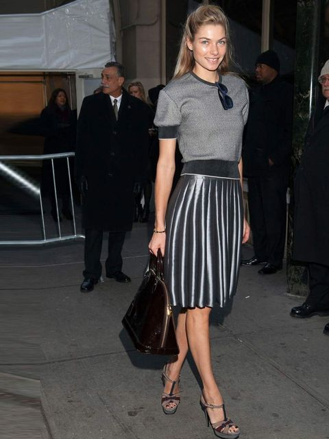 "<p><a href=""http://www.elleuk.com/star-style/celebrity-style-files/jessica-hart"">Jessica Hart</a> wears a pleated skirt to the <a href=""http://www.elleuk.com/catwalk/designer-a-z/calvin-klein-collection/autumn-winter-2013/collection"">Calvin Klein</a> show"