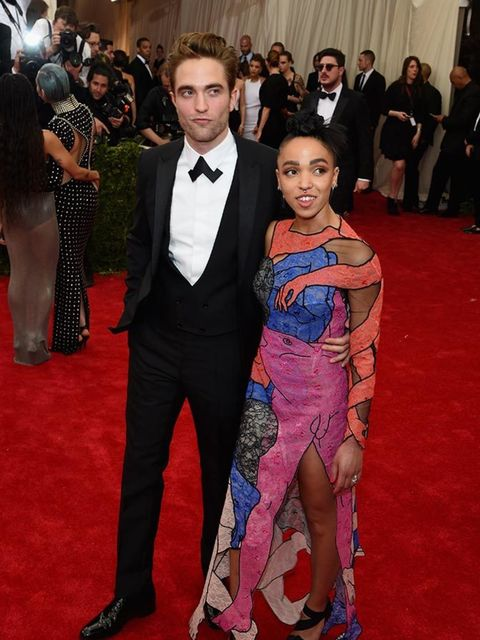 <p>Robert Pattinson and FKA Twigs at the Met Gala in New York, May 2015.</p>