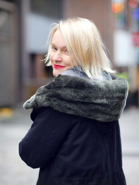 <p>Lorraine Candy, Editor-in-Chief</p><p>Woolrich Parka, Joseph cashmere top and trousers, Whistles trainers, Chanel handbag</p>