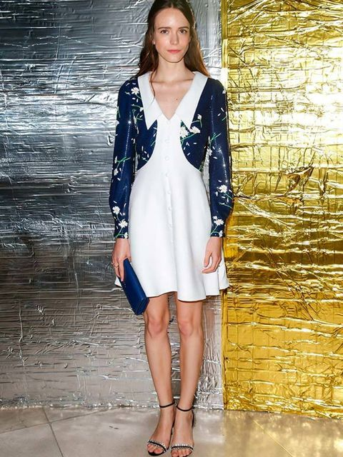 Stacy Martin attends the Miu Miu show as part of the Paris Fashion Week Womenswear Spring/Summer 2016, October 2015.