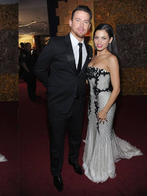 <p>Channing Tatum and Jenna Dewan at the Golden Globes after-party, 2014. </p>
