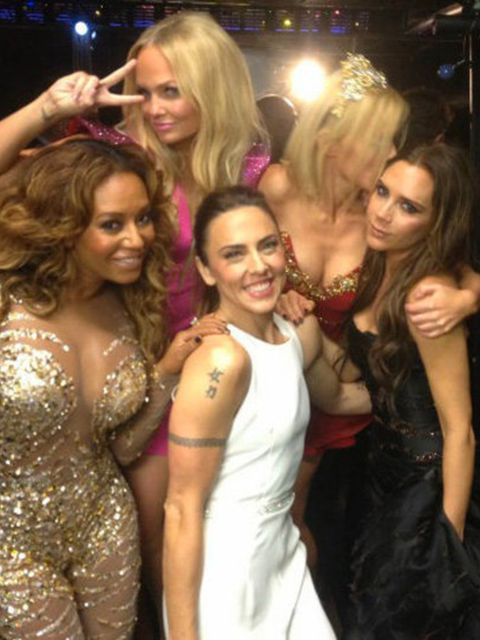 <p>A snapshot of the Spice Girls backstage after the London 2012 Olympics Closing Ceremony</p>