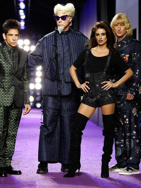 The cast of Zoolander 2: Ben Stiller, Will Farrell, Penelope Cruz and Owen Wilson at the Zoolander 2 premiere in New York, February 2016
