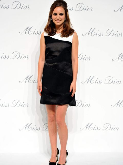 Natalie Portman attends the opening of the MIss Dior exhibition in Beijing, April 2015.