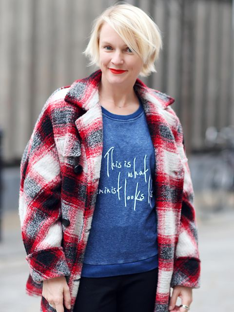 <p>Lorraine Candy – Editor in Chief.</p>  <p>Iasbel Marant Etoile at Matches coats, Whistles T'shirt.</p>