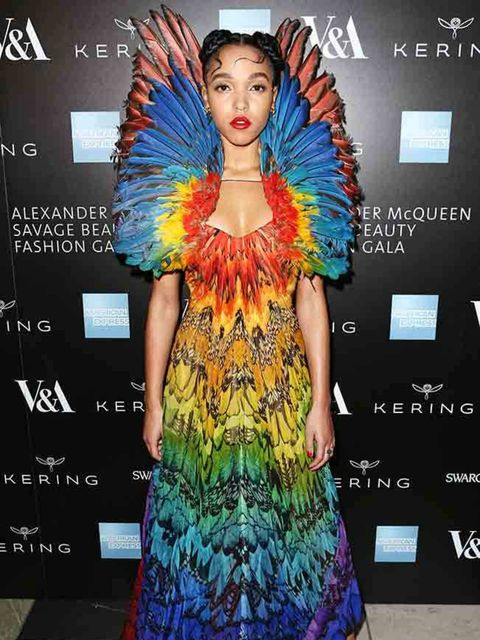 FKA Twigs at the 'Alexander McQueen: Savage Beauty Gala' at the Victoria & Albert Museum in London, March 2015.