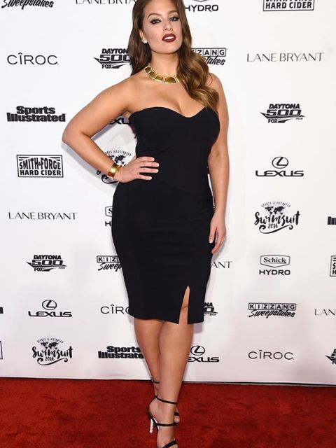 Ashley Graham attends the Sports Illustrated party during New York Fashion Week AW16, February 2016.