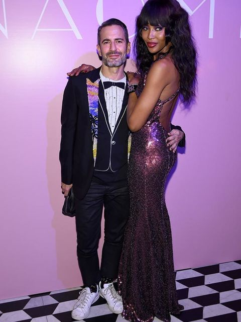 Marc Jacobs and Naomi Campbell at the launch of Naomi at the Diamond Horseshoe in New York, April 2016.