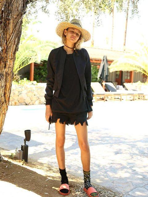 <p>Binx Walton wears Hunter during Coachella, April 2016.</p>