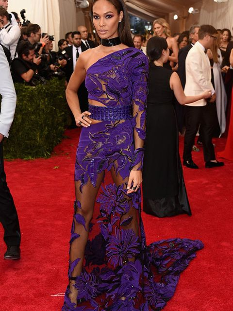 Joan Smalls attends the 'China: Through The Looking Glass' Costume Institute Benefit Gala, May 2015.