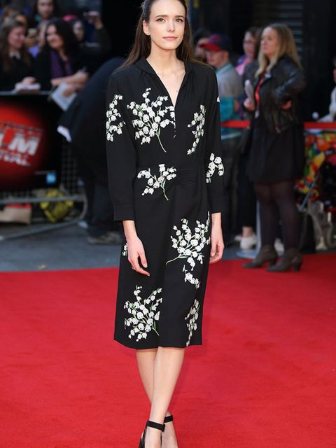 Stacy Martin attends the High-Rise Screening, during the BFI London Film Festival in London, October 2015.