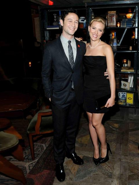 "<p>Joseph Gordon-Levitt and <a href=""http://www.elleuk.com/star-style/celebrity-style-files/scarlett-johansson"">Scarlett Johansson</a> at the Soho House Toronto party to celebrate the premiere of Don Jon, September 2013. </p><p><a href=""http://www.elleuk."
