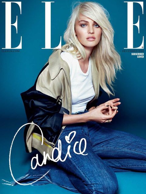 <p>Candice Swanepoel in Prada on the ELLE subscriber cover by Kai Z Feng</p>
