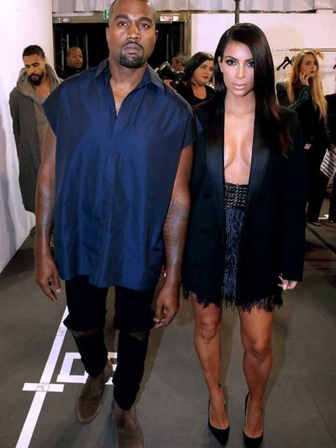 """<p><strong>Most impressive his 'n' hers coordination:</strong></p>  <p><a href=""""http://www.elleuk.com/tags/kim-kardashian"""">Kimye</a>. Obvs. This <a href=""""http://www.elleuk.com/catwalk/lanvin/spring-summer-2015"""">Lanvin</a> look was a particular highlight.<"""