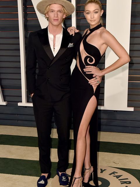 Cody Simpson and Gigi Hadid at the Vanity Fair Oscar Party, February 2015.