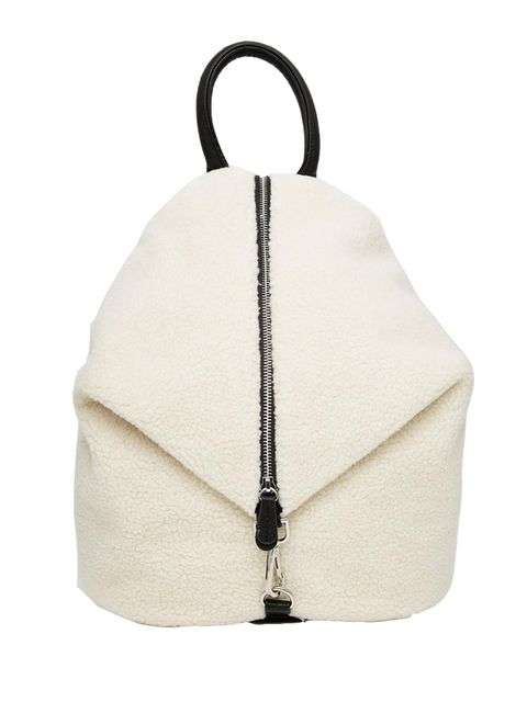 "<p>Shearling is everywhere this season; this back-pack is not only practical but a textured accessory will add interest to any outfit.</p>  <p> </p>  <p><a href=""http://www.asos.com/ASOS/ASOS-Front-Zip-Backpack-With-Dog-Clip-In-Faux-Shearling/Prod/pgeprod"