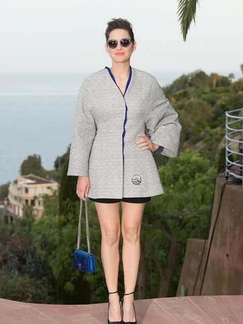 Marion Cotillard attends the Dior Cruise 2016 Collection show at Le Palais Bulles, May 2015.