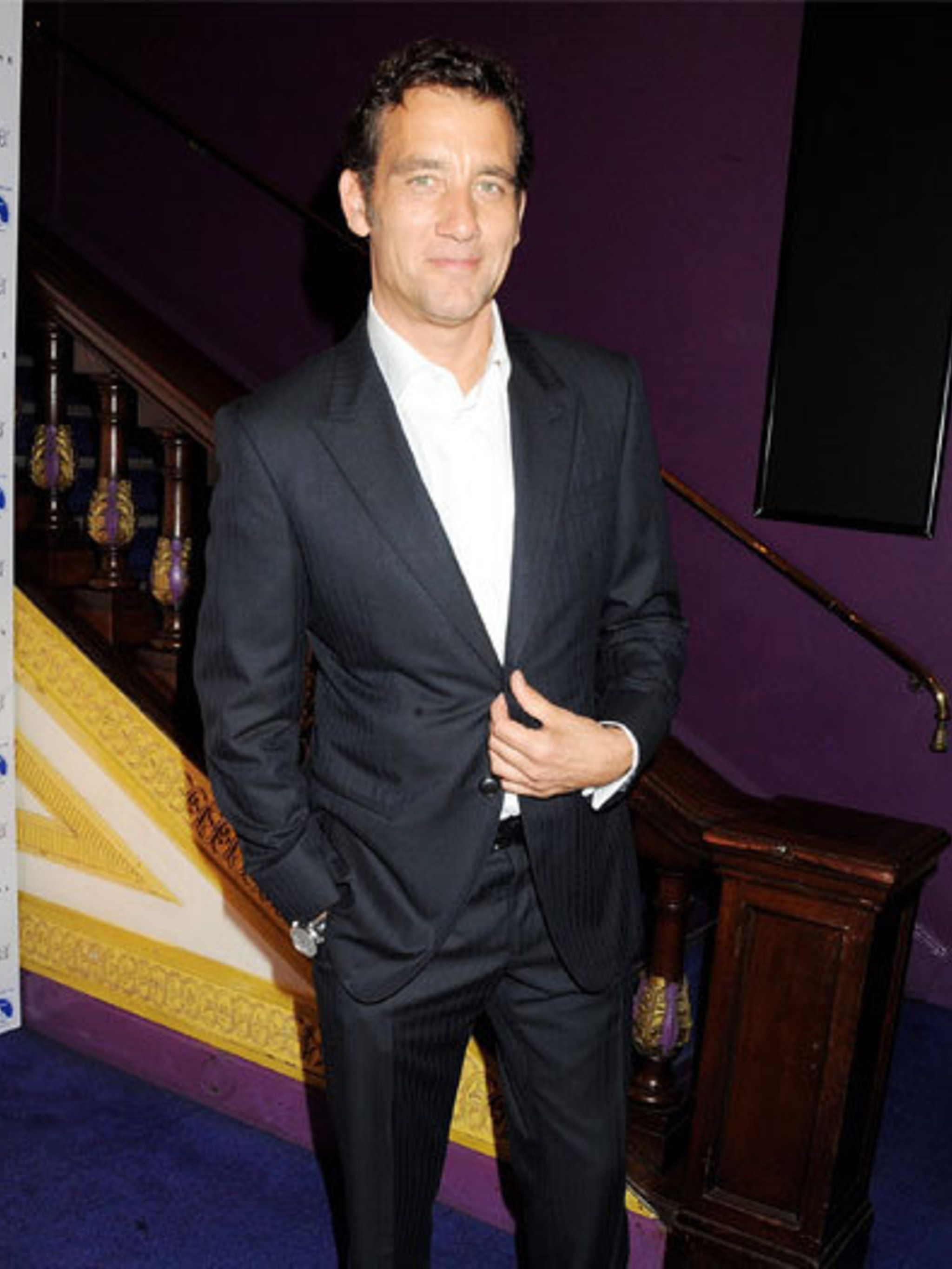 <p>Clive Owen plays an MI5 agent in political/spy thriller Shadow Dancer. He attended the UK premiere in London.</p>