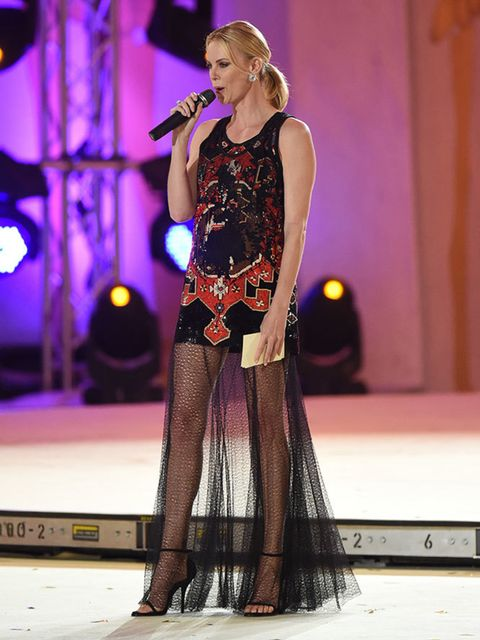 Charlize Theron in Givenchy Haute Couture by Riccardo Tisci at the Life Ball in Vienna, May 2015.