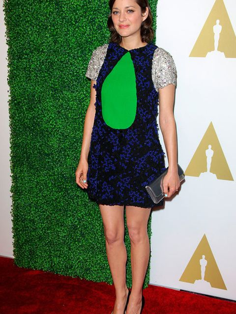 Marion Cotillard wears Dior at the 87th Annual Academy Awards Nominee Luncheon in Los Angeles, February 2015.