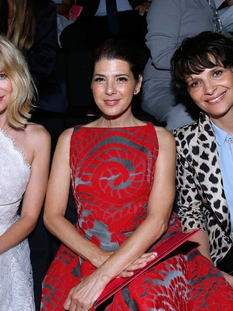 Naomi Watts, Marissa Tomei and Juliette Binoche at the Giorgio Armani Prive Couture show in Paris, July 2015.