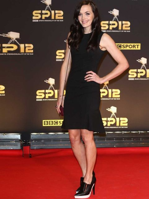 "<p>Victoria Pendleton in <a href=""http://www.elleuk.com/catwalk/designer-a-z/stella-mccartney/spring-summer-2013"">Stella McCartney</a> at the BBC Sports Personality of the Year Awards, 2012.</p>"