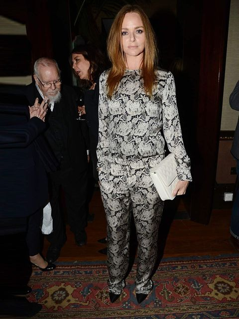 <p>Stella McCartney in a lace Stella McCartney jumpsuit at the 'Kate Moss' book launch after party, London.</p>