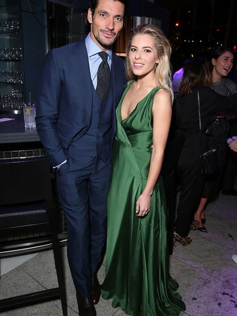 David Gandy and Mollie King at the ELLE Style Awards after party, London, February 2015.
