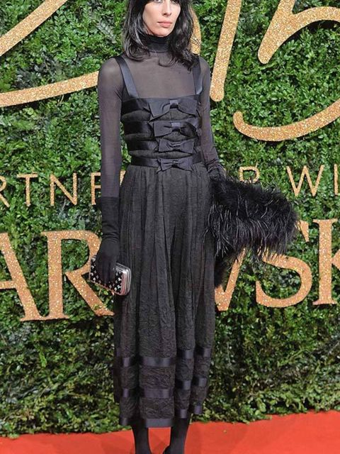 <p><strong>JAMIE BOCHERT - CHANEL</strong></p>  <p>Granted, Jamie Bochert's cool-girl persona means anything looks great on her but this Chanel look is the ultimate in after-dark alt dressing.</p>