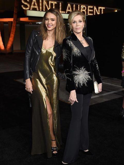 ee3b737d Jessica Alba and Jane Fonda attend the Saint Laurent at the Palladium show  in LA,