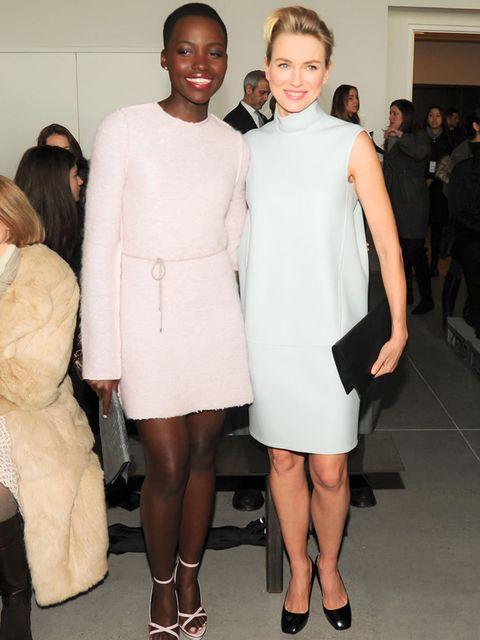 <p>Lupita Nyong'o and Naomi Watts at Calvin Klein, AW14 Mercedes-Benz Fashion Week, New York.</p>