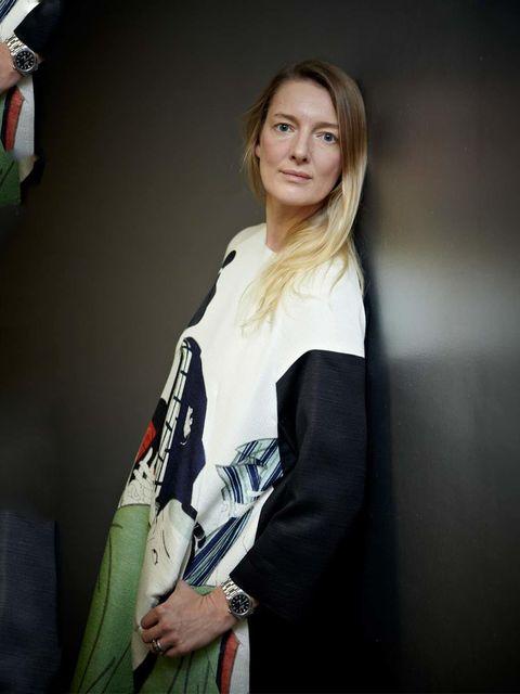<p>Rebecca Lowthorpe, Fashion Features Director. Dries Van Noten dress.</p>