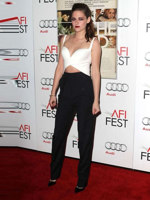 <p>Kristen Stewart in Balenciaga Spring Summer 13 at an On The Road screening during the AFI Film Festival, LA.</p>