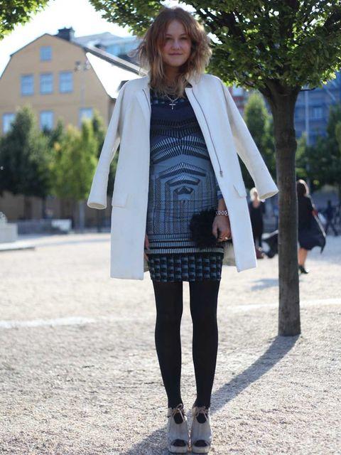 <p>Aurelie, Blogger. Celine jacket, Topshop dress, Aldo shoes.</p>