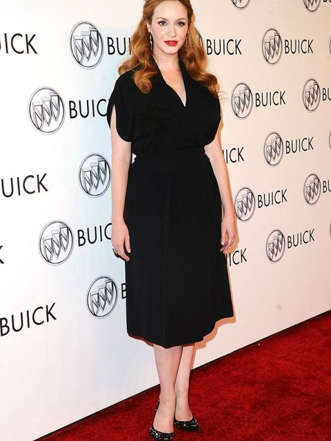 Christina Hendricks attends a Buick event in Los Angeles, July 2015.