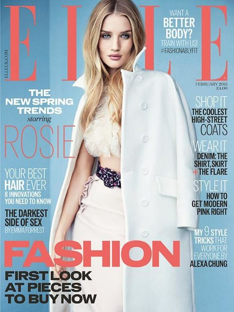 <p>RHW's February 2015 ELLE cover.</p>