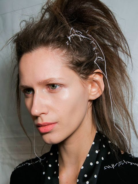 "<p><a href=""http://www.elleuk.com/catwalk/haider-ackermann/autumn-winter-2015""><strong>Haider Ackermann</strong></a></p>  <p>The look: Romantic punk</p>  <p>Hair stylist: Kamo for Aveda</p>  <p>Key products: Aveda Phomollient Styling Foam</p>  <p>Top tip:"