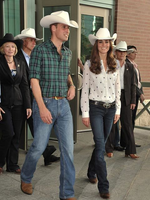 <p>Prince William and Kate Middleton, 2011. </p>  <p>When in Texas…</p>